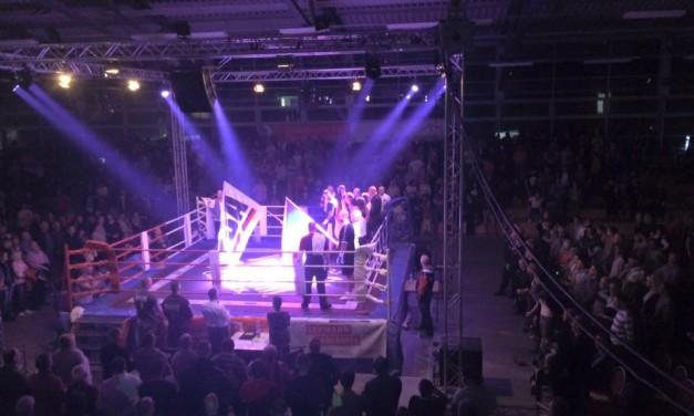 Moderation bei der 5. Eisenhüttenstädter Boxnacht