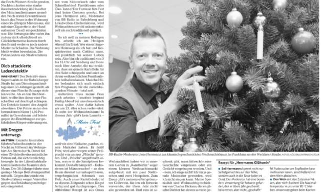 Wie feiert Radiomoderator Jens Herrmann Weihnachten?