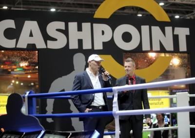 Mit Boxchampion Axel Schulz gemeinsam im Ring