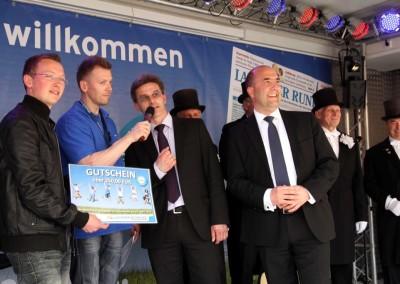 Moderation bei der LAUSITZER RUNDSCHAU Geburtstagstour in Finsterwalde
