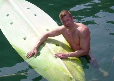 Jens beim Surfen